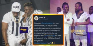 Shatta refused to allow Samini&Stonebwoy to perform at his album launch