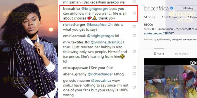 'You can unfollow me like I did' – Becca angrily tell her Instagram fans