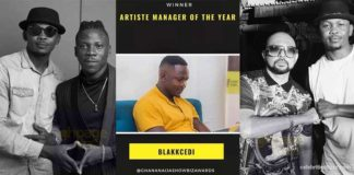 Stonebowy's manager, Blakk Cedi wins Artiste Manager of the Year Award