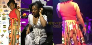 "Fast rising singer, CT Baby shows her na*ked buttocks on ""Achimota to the world concert"" stage [Video]"