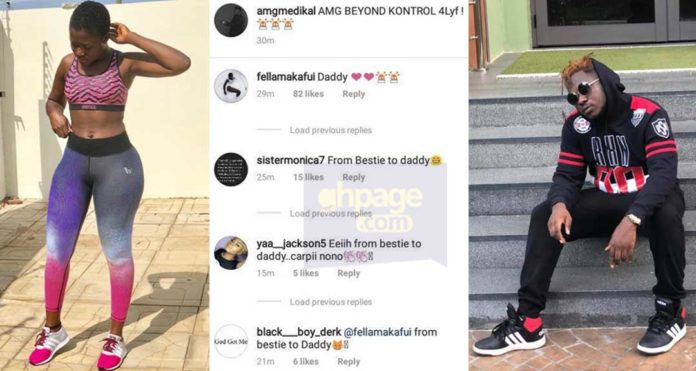 Fella Makafui has moved from calling Medikal Bestie to Daddy