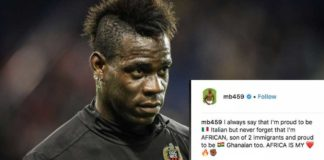 I'm proud to be a Ghanaian - Mario Balotelli