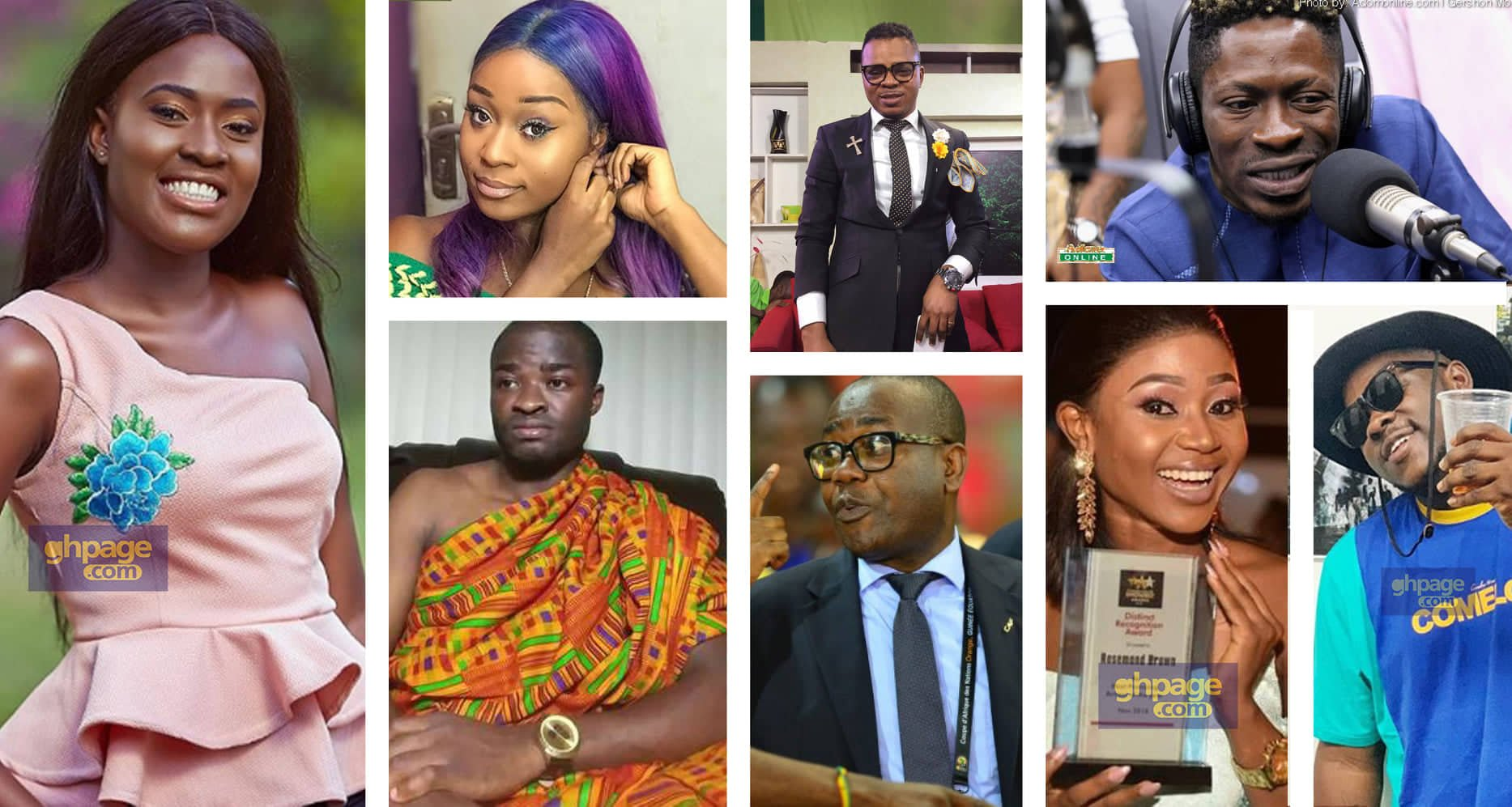 Top 16 Ghanaian popular people with the most controversies in 2018