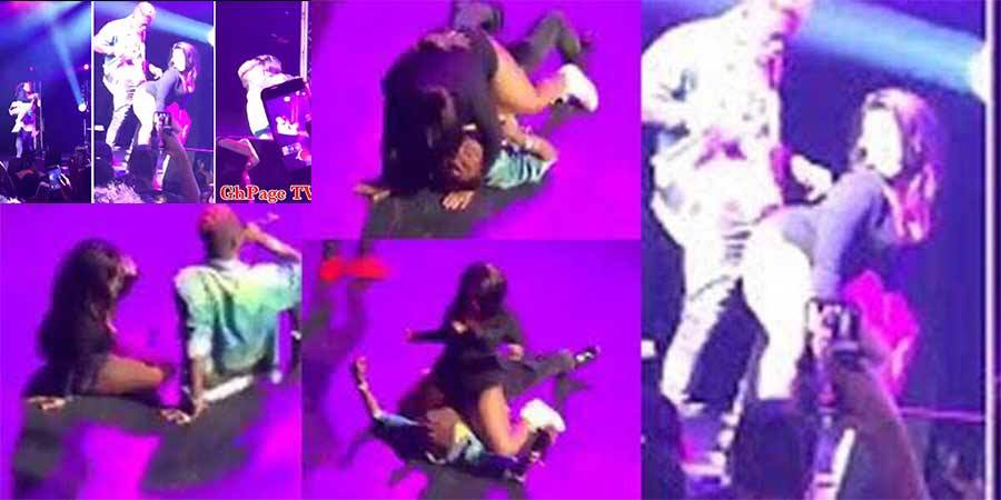 Proper view of when the Slay queen was 'killing' Shatta Wale on stage at London indigo 02