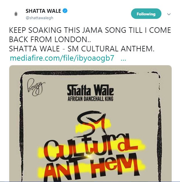 "Shatta Wale admits he produces ""JAMA"" songs; begs followers to keep listening"