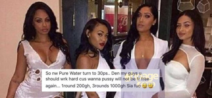 Slay Queens also increase their price after pure water start selling at 30p