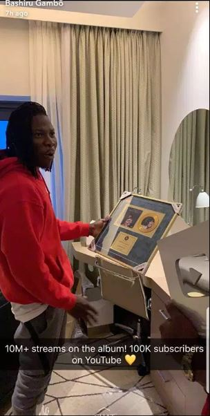 Stonebwoy receives honour from Youtube after his EOM album hit 10 million+ views