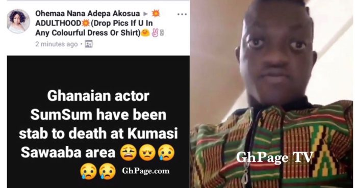 Most handsome Kumawood actor, Sumsum Ahuofe reacts to his death reports [Video]