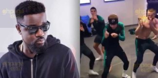 Tottenham players jams to Sarkodie's 'Adonai' song