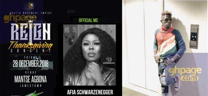 Afia Schwarzenegger announced as host for Shatta Wale's