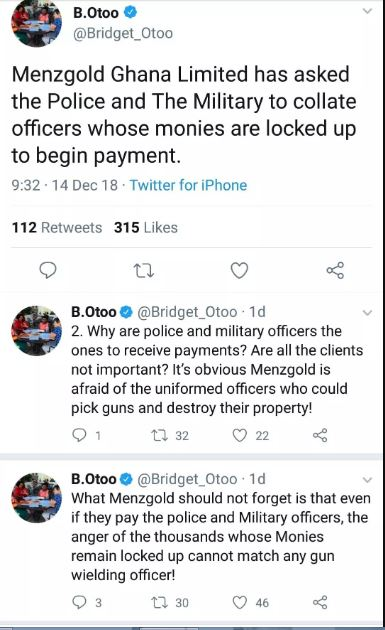 NAM 1 is secretly paying top police, military clients to evade arrest – Bridgette Otoo reveals