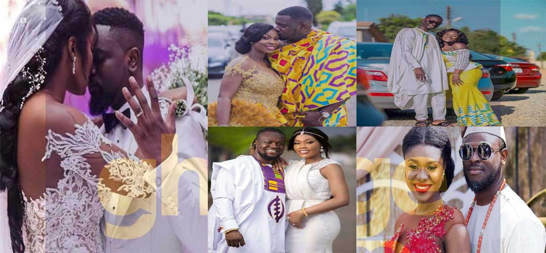 8 Ghanaian Celebrities who got married in 2018.