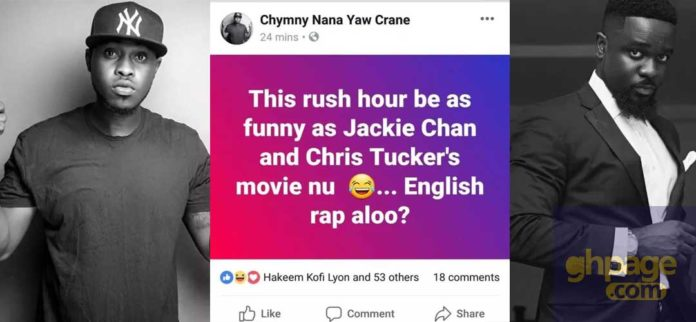 Sarkodie is wack when he raps in English - Chymny Crane