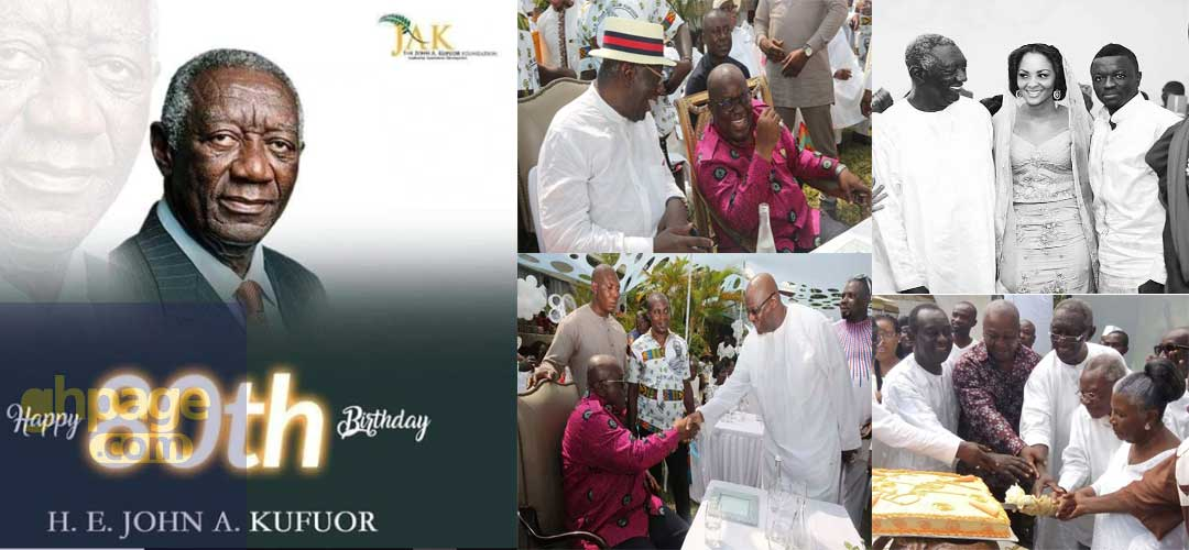 Dignitaries celebrates with Kufour on his 80th birthday