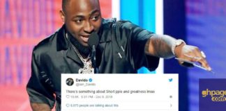 Short people are usually blessed with greatness – Davido