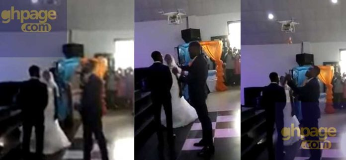 Drone used to deliver wedding rings to Ghanaian couples on their wedding day