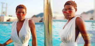 Ghanaian songstress, Efe Keyz puts her s£xy boobs on display on Vacation [Photos]