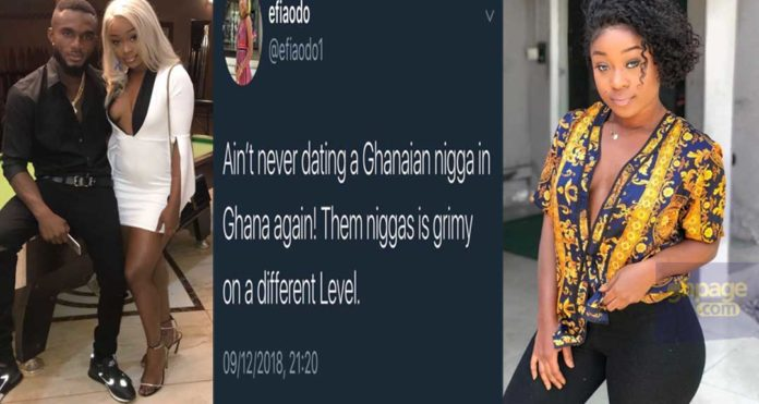 I will never date a Ghanaian guy again-Efia Odo vows after being dumped