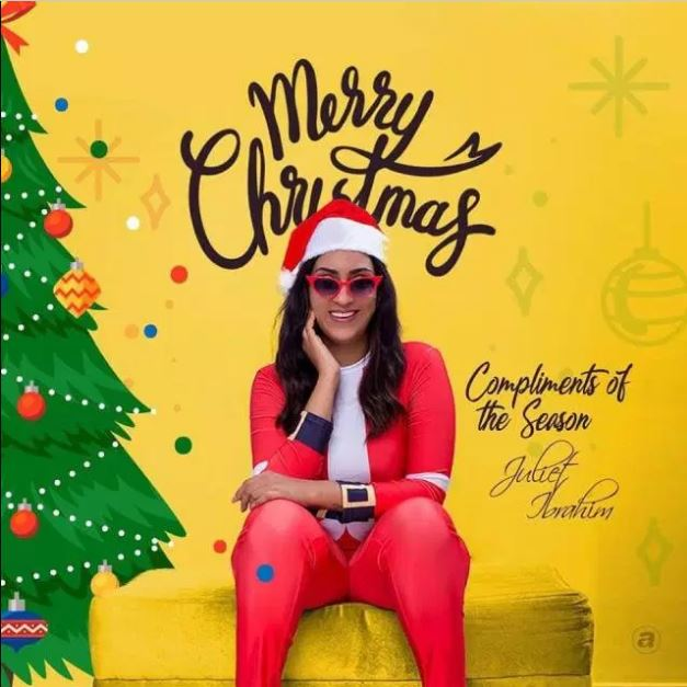 Juliet Ibrahim glows in lovely photos to celebrate Christmas