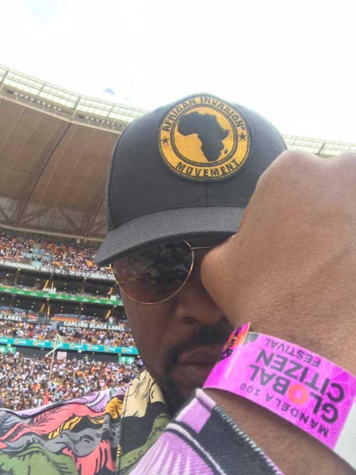 Kofi Okyere Darkod at Global Citizen Festival in South Africa