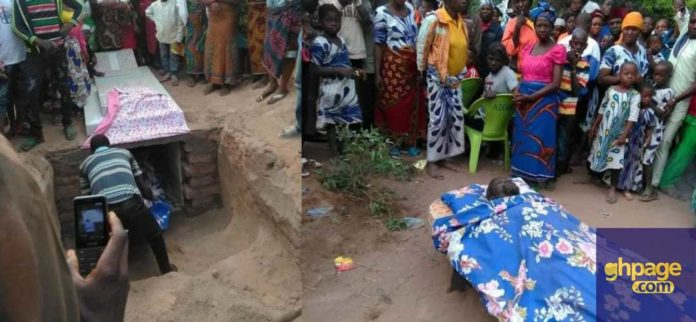 Man buried with bed instead of a coffin