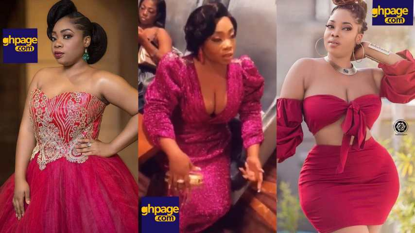 Moesha  flaunts her big 'melons' as she  slays on red carpet of 2018 Ghana Movie Awards