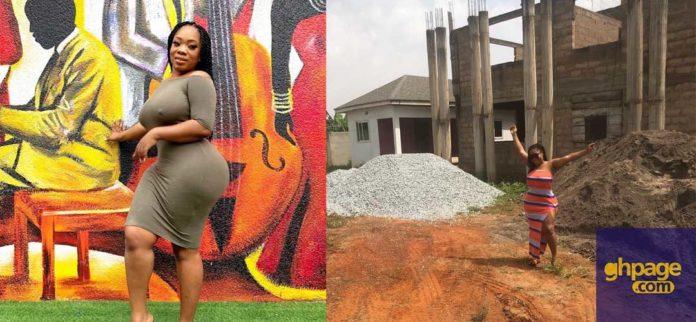 Moesha Boduong flaunts her uncompleted building on social media