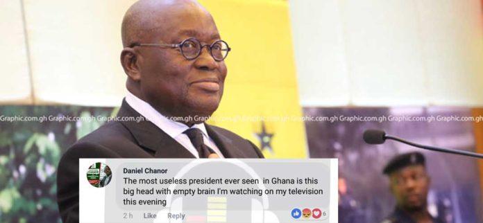 Ghanaians blast President Nana Akuffo Addo for loose talk