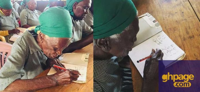Woman,95, enrolls in school to learn how to read and write