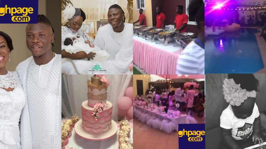 Stonebwoy and wife, celebrate their daughter in a lavish birthday party