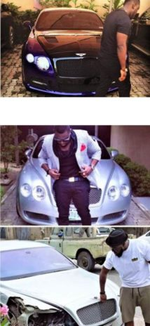 Singer posing with cars