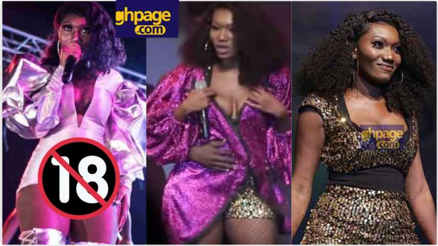 Wendy Shay exposes her  'tonga' again on live stage