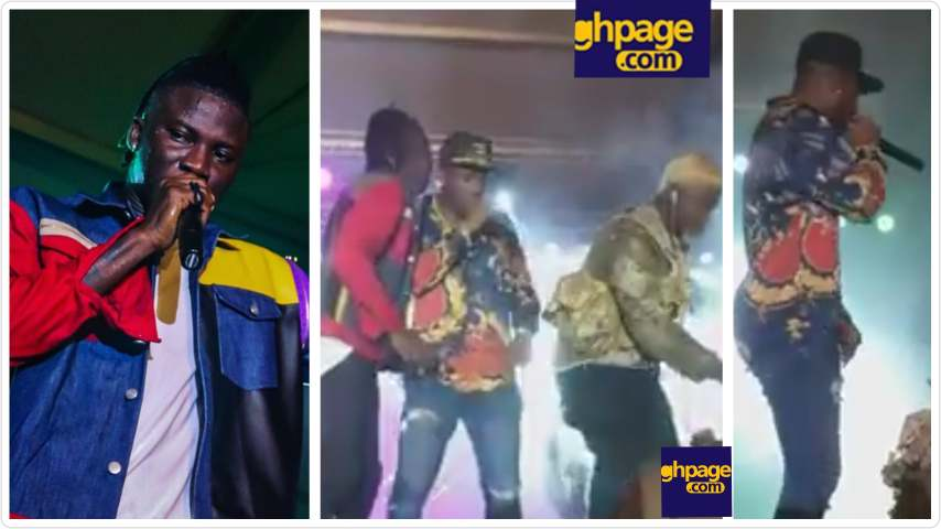 Asamoah Gyan and Adebayor stole the show as they Perform 'Problem' With Stonebwoy