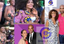 American actor, Boris Kodjoe's wife and other Hollywood stars jam to Wendy Shay's Astalavista song