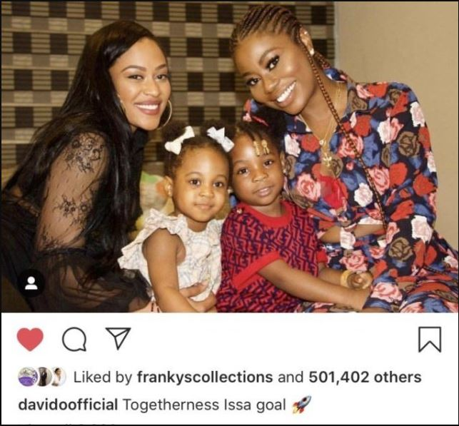 Chioma deletes Instagram account after Davido celebrated his baby mamas