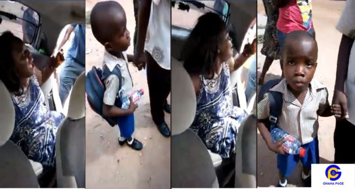 Woman caught attempting to kidnap a young boy at school premises