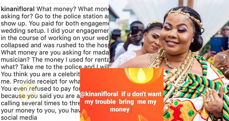 Gospel Musician Gifty Osei fights decor company who worked on her engagement-wedding ceremony