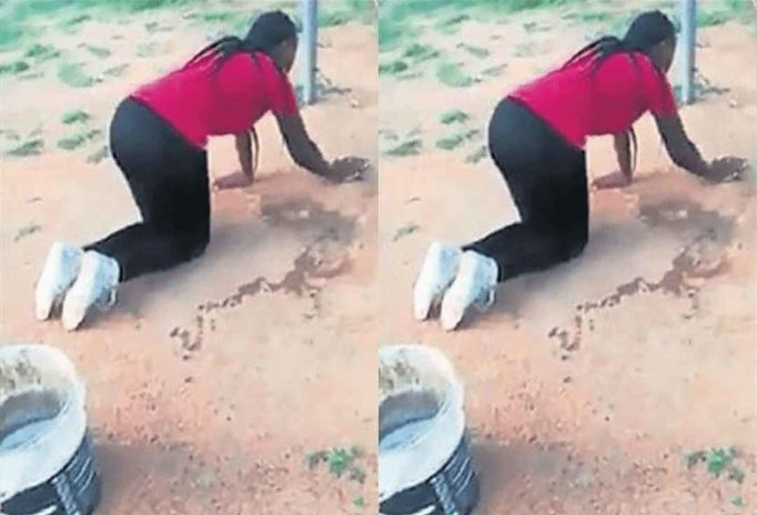 Side chick mobbing the floor