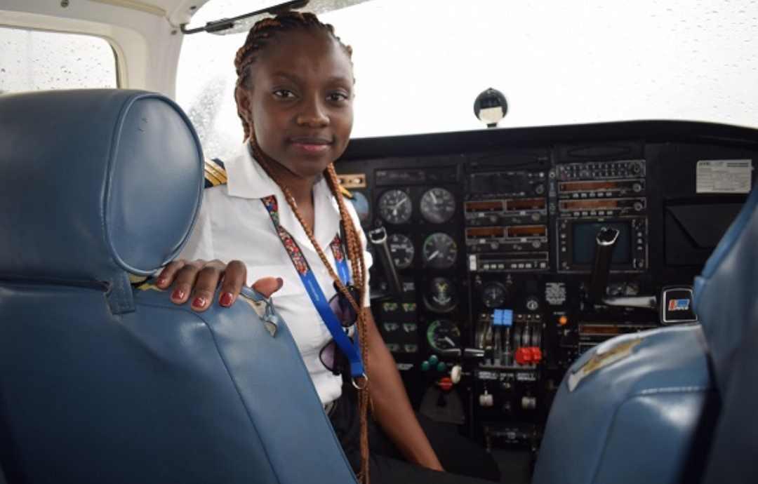 Pilot Audrey Esi Swatson in a plain