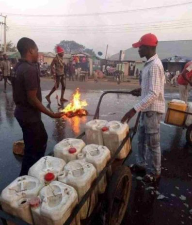 Photo of Residents wash streets
