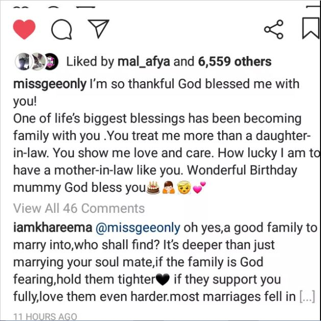 John Dumelo's wife Mawunya sends a heartwarming birthday message to mother-in-law