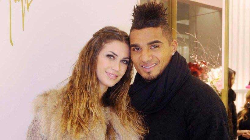 Kelvin Prince Boateng and wife, Melissa