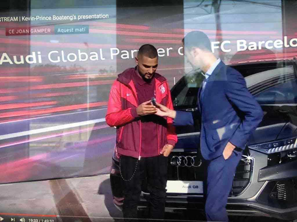 Kevin Prince Boateng receives Audi Q8 for joining Barcelona