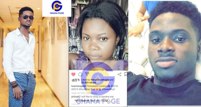 Kuami Eugene gave a 'surprising' reply to a female fan who said she will like to chop his banana