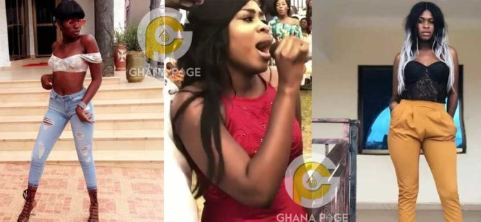 Yaa Jackson performs her tear rubber song at a wedding reception