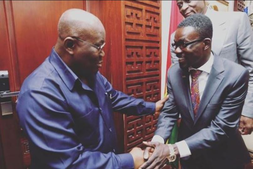 Nana Appiah Mensah aka NAM1 and Nana Addo Dankwa Akufo-Addo, the president of Ghana