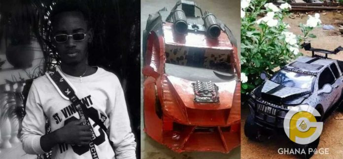 SHS 2 student builds a classic sports car using papers & plastics