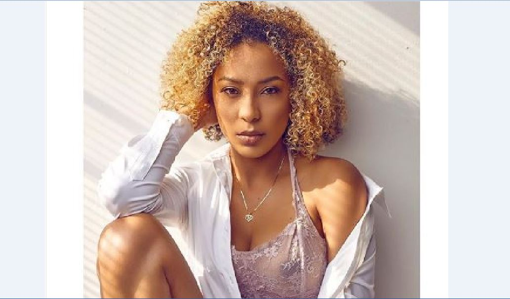 Actress Nikki Samonas flaunts her nipples in a see-me-through nightwear