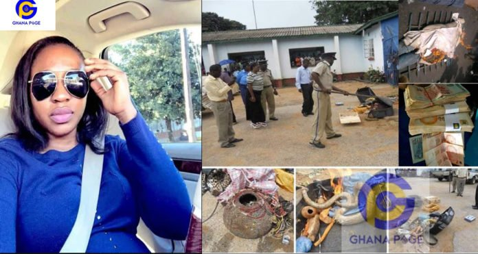 Fetish items discovered in a house of alleged ritualist slay queen