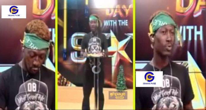 Supa aka Ghana 2pac reads sports news on UTV day with the stars